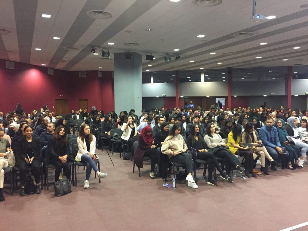 students studying medicine in europe at the british medicial careers conference