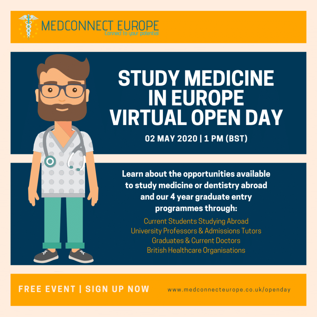 Study Medicine In Europe Open Day 2020